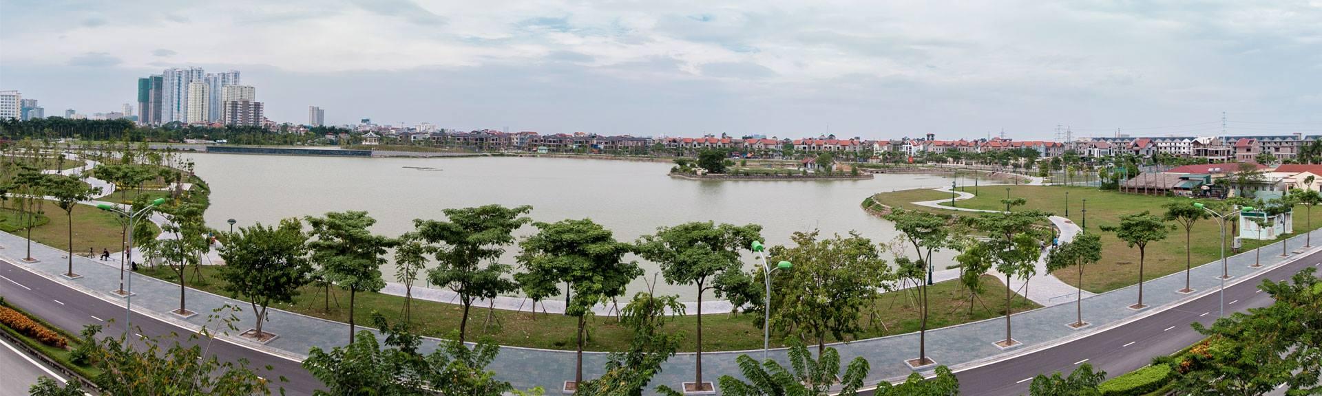 Bờ hồ an bình city Thành phố giao lưu