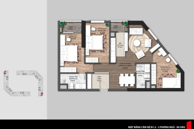 Thiết kế căn hộ The Emerald CT8 Mỹ Đình: sang trọng và tối ưu