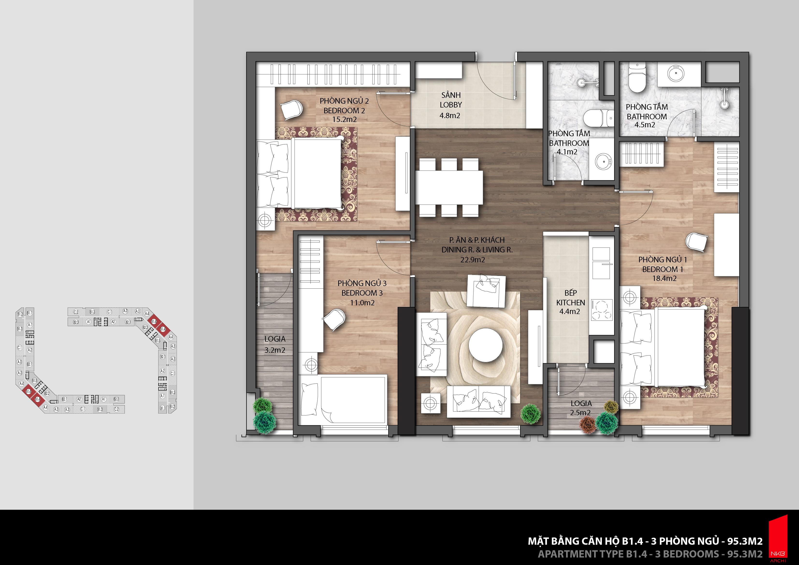 Thiết kế căn hộ chung cư The Emerald Ct8 Đình Thôn Mỹ Đình