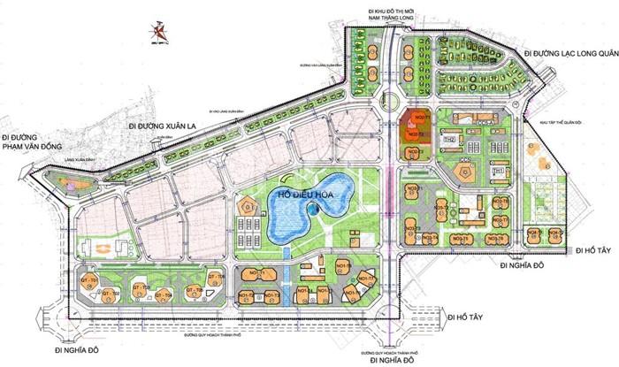 Giới thiệu dự án khu đô thị Ngoại Giao Đoàn năm ở phía Tây Hồ Tây