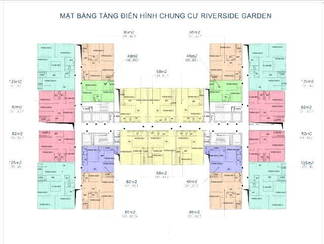 Mặt bằng thiết kế căn hộ chung cư 349 Vũ Tông Phan
