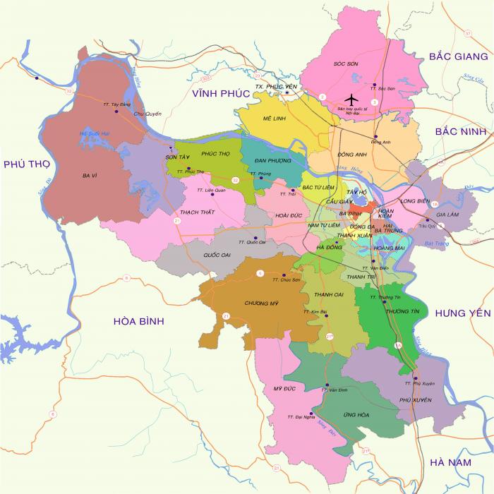 Danh sách quận huyện tại Hà Nội và TP HCM