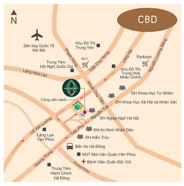 Mulberry Lane- Vị trí đắc địa-Điểm vàng kết nối